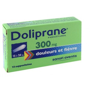 Doliprane 300 mg suppositoires