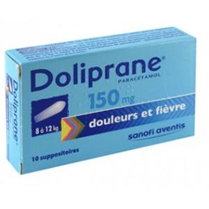 Doliprane 150 mg Suppositoires