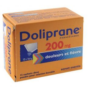 Doliprane 200 mg Sachets