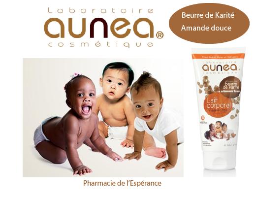 Aunea cosmetique pour bébés et enfants
